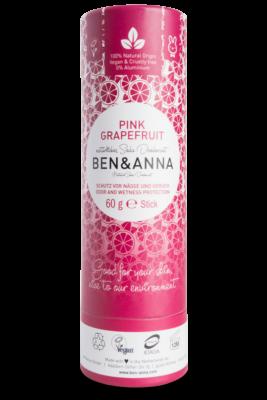 Ben & Anna Natúr deo stift - pink grapefruit 60g
