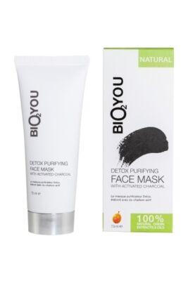 Bio2You Detox natúr tisztító arcmaszk aktív szénnel 75ml