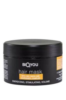 Bio2You Natúr haj maszk hairensyl komplexummal és lilahagyma kivonattal 200ml