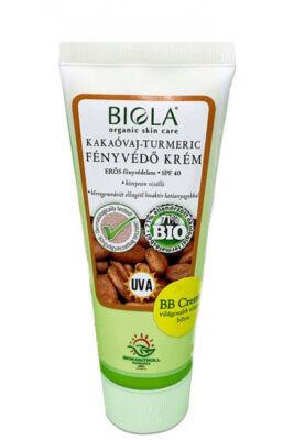 Biola Kakaóvaj-turmeric fényvédő krém SPF40 - Világos 75ml