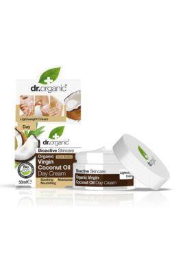 Dr. Organic Nappali arcápoló krém bio szűz kókuszolajjal 50ml