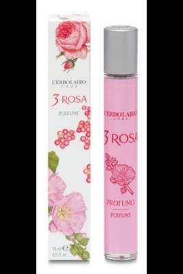 L'Erbolario 3 Rózsa illatú Eau de Parfüm 15ml