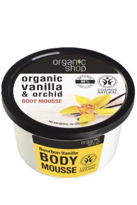 Organic Shop Testápoló Mousse Bourbon vanília 250ml