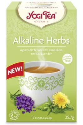 Yogi Tea Lúgosító gyógynövényes tea, 17 filter x 1.8g (30.6g)