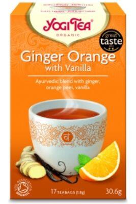 Yogi Tea Narancsos gyömbér, 17 filter x 1.8g (30.6g)