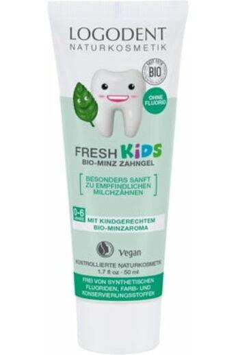 Logodent Fresh Kids fluoridmentes gyermek foggél bio mentával 50ml