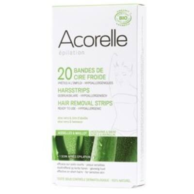 Acorelle Cold Wax Hair Removal Strips - Underarms & Bikini line 10x2