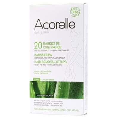 Acorelle Cold Wax Hair Removal Strips - Body 10x2