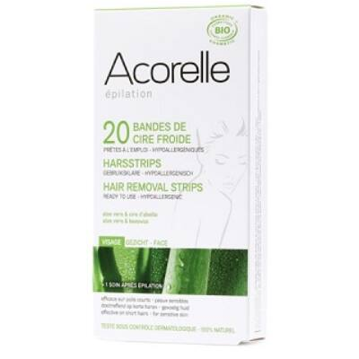 Acorelle Cold Wax Hair Removal Strips - Face 10x2