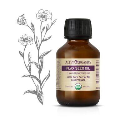 Alteya Organics Flax Seed Oil (Linum Usitatissimum) - organic 100ml