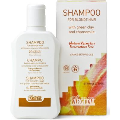 Argital Shampoo for Blond and Fine Hair with Green Clay and Chamomile 250ml