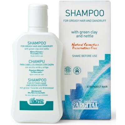 Argital Shampoo for Oily Hair and Dandruff with Green Clay and Nettle 250ml
