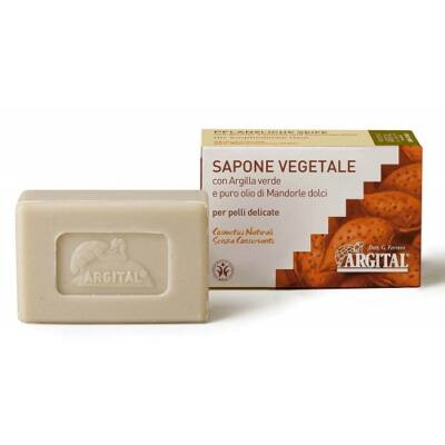 Argital Vegetal Soap with Green Clay and Sweet Almond 100g