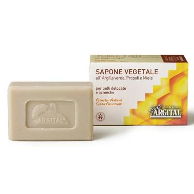 Argital Vegetal Soap with Green Clay, Propolis and Honey 100g
