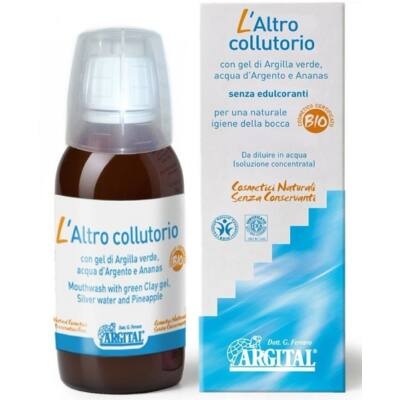 Argital Mouthwash with Green Clay Gel and Silver Water 100ml