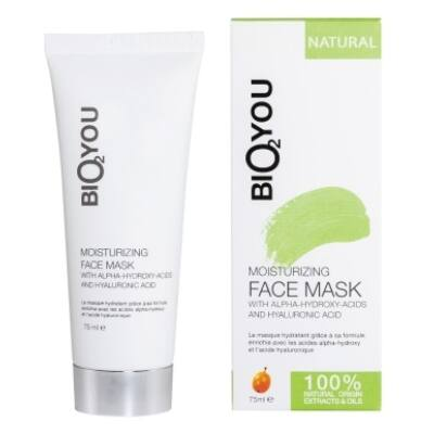 Bio2You Moisturizing Face Mask with Alpha-Hydroxy-Acids and Hyaluronic acid 75ml