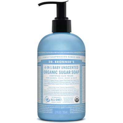 Dr. Bronner's Organic Sugar Soap - Baby Unscented 355ml