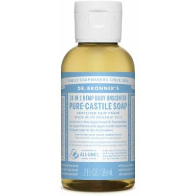 Dr. Bronner's Baby Unscented Pure-Castile Liquid Soap 60ml