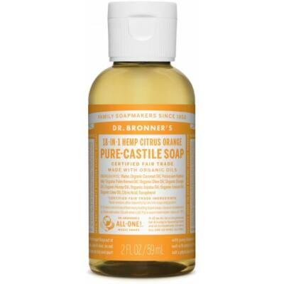 Dr. Bronner's Citrus-Orange Pure-Castile Liquid Soap 60ml