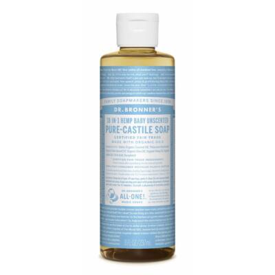 Dr. Bronner's Baby Unscented Pure-Castile Liquid Soap 240ml
