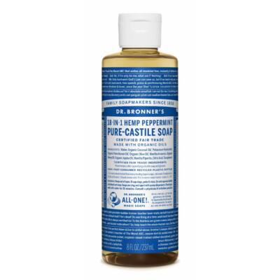 Dr. Bronner's Peppermint Pure-Castile Liquid Soap 240ml