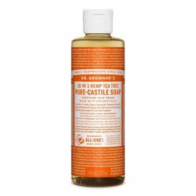 Dr. Bronner's Tea Tree Pure-Castile Liquid Soap 240ml