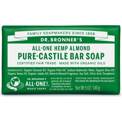 Dr. Bronner's Almond Pure-Castile Bar Soap 140g