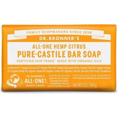 Dr. Bronner's Citrus Pure-Castile Bar Soap 140g