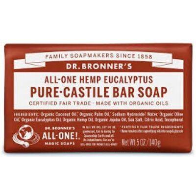 Dr. Bronner's Eucalyptus Pure-Castile Bar Soap 140g