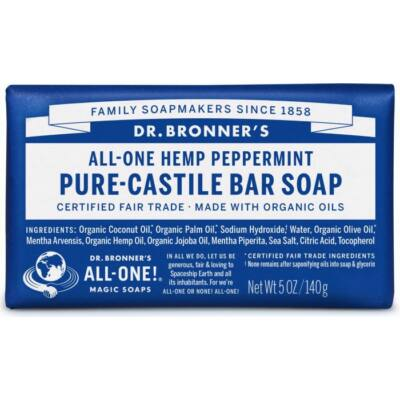 Dr. Bronner's Peppermint Pure-Castile Bar Soap 140g