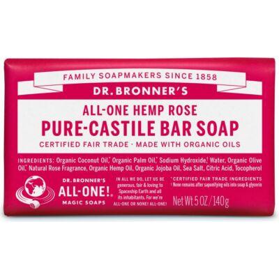 Dr. Bronner's Rose Pure-Castile Bar Soap 140g