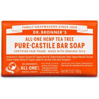 Dr. Bronner's Tea Tree Pure-Castile Bar Soap 140g