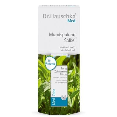 Dr. Hauschka Med Sage Mouthwash 300ml + Free Fortifying Mint Toothpaste