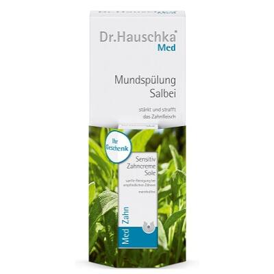 Dr. Hauschka Med Sage Mouthwash 300ml + Free Sensitive Saltwater Toothpaste