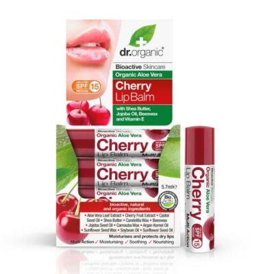 Dr. Organic Aloe Vera Cherry Lipbalm