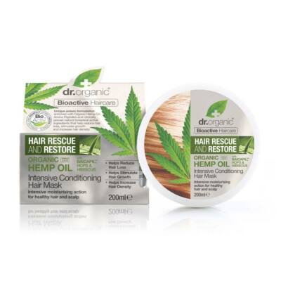 Dr. Organic Hajserkentő Intenzív hajpakolás hajnövekedést támogató Baicapil formulával és bioaktív kendermagolajjal 200ml