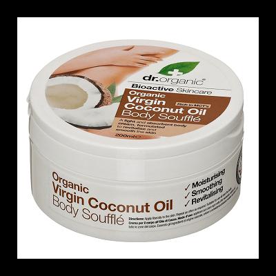 Dr. Organic Virgin Coconut Oil Body Souffle 200ml