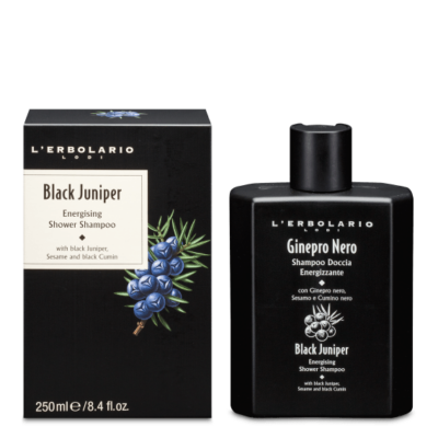 L'Erbolario Black Juniper Energising Shower Shampoo 250ml