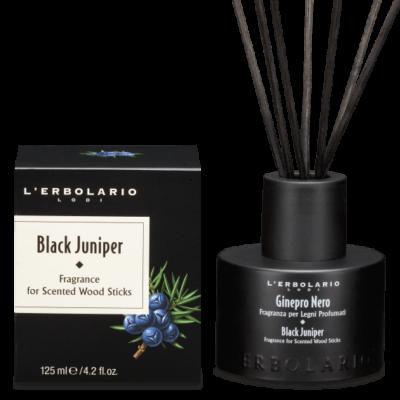 L'Erbolario Black Juniper Fragrance for Scented Wood Sticks 125ml