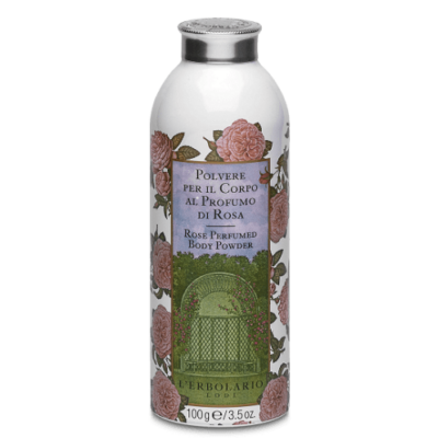 L'Erbolario Perfumed Body Powder Rose 100g