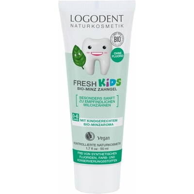 Logodent Fresh Kids Mint Fluoride-free Toothpaste 50ml