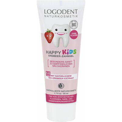 Logodent Happy Kids Strawberry Toothpaste 50ml