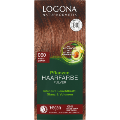 Logona Herbal Hair Colour Powder 060 - nut brown 100g