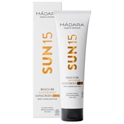 Mádara SUN15 Beach BB Shimmering Sunscreen SPF15 100ml