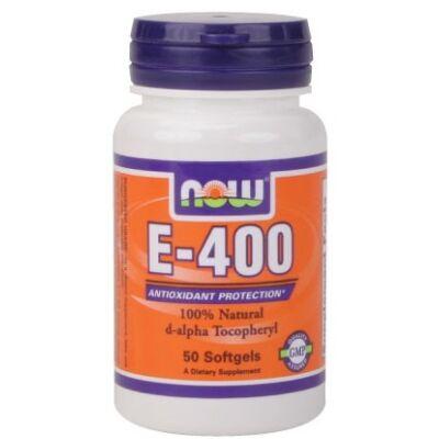 Now Vitamin E-400 IU D-Alpha Tocopheryl 50 Softgels