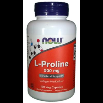 Now L-Proline 500 mg 120 Veg Capsules