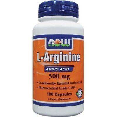 Now L-Arginine 500 mg 100 Capsules