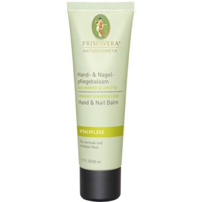 Primavera Energising Ginger Lime Hand and Nail Cream 50ml