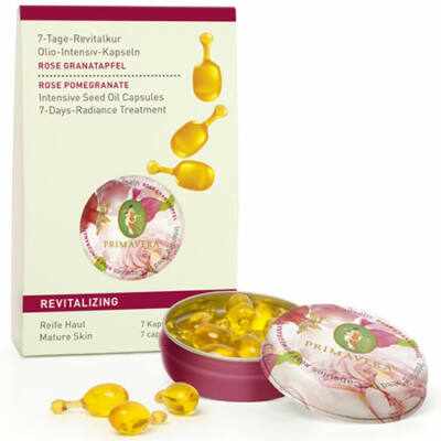 Primavera Rose Pomegranate Revitalising Intensive Seed Oil Capsules 7-Days-Radiance Treatment