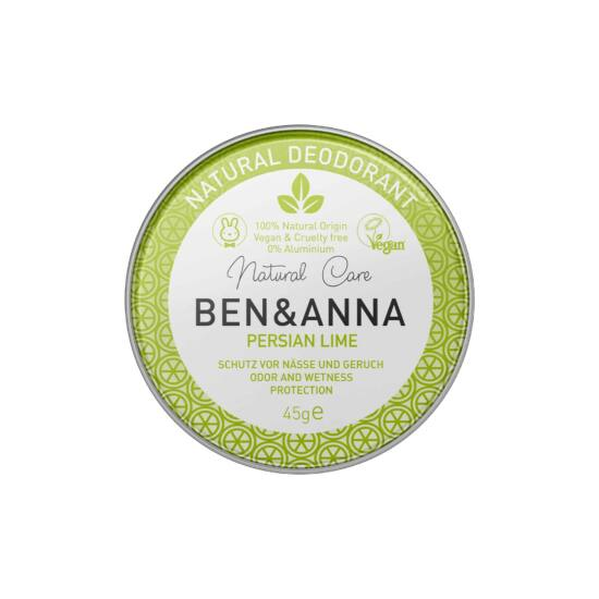Ben & Anna Natúr tégelyes krémdezodor - Persian Lime 45g